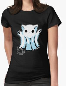 Cute Boo Ghost Cat Halloween Womens Fitted T-Shirt