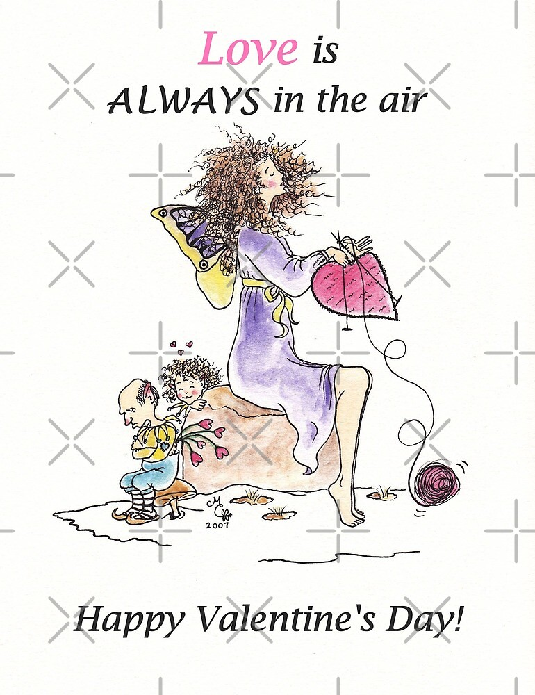 Love Is Always in the Air  Happy Valentine's Day - The Knittington Fairies series by LeisureLane1