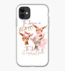 The Answer Is More Goats Watercolor  iPhone Case