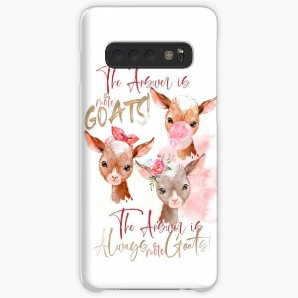 The Answer Is More Goats Watercolor  Samsung Galaxy Snap Case