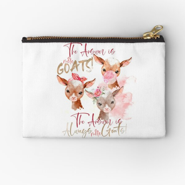The Answer Is More Goats Watercolor  Zipper Pouch