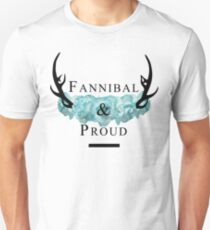 'Fannibal & Proud' w/ Flower (Black Font) T-Shirt