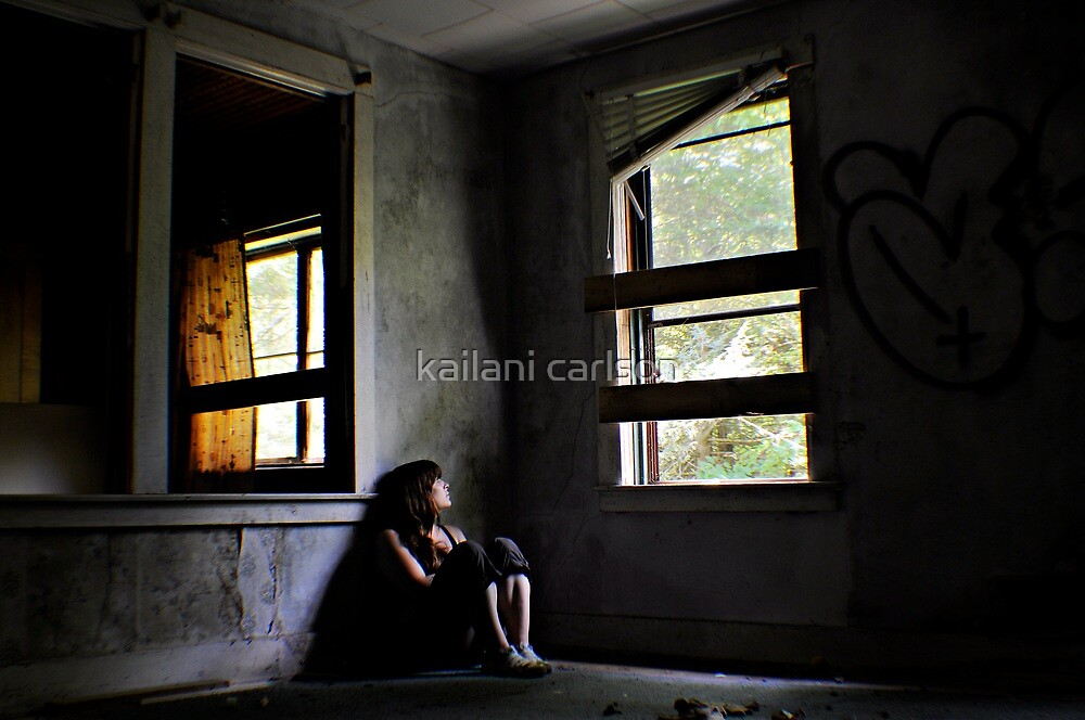 """Contentment"" Self Portrait, Abandoned House, CT by kailani carlson"