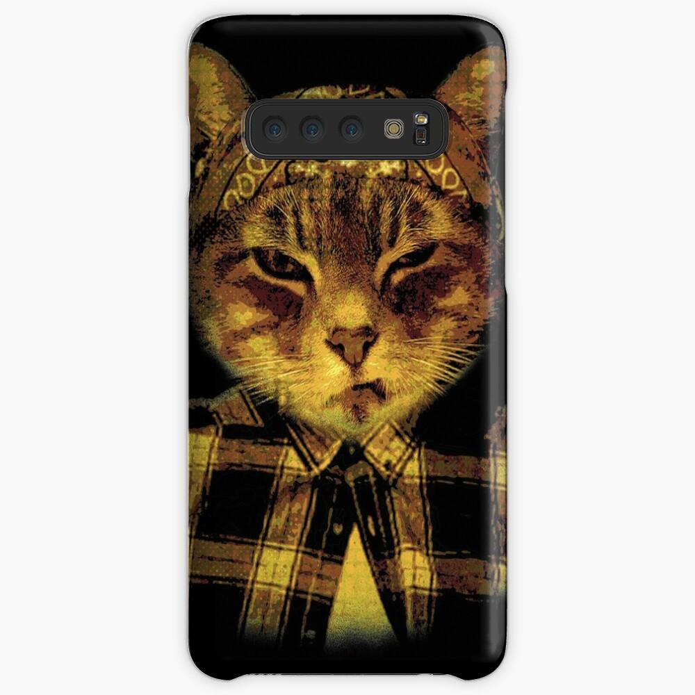 Gangster Katze Hülle & Klebefolie für Samsung Galaxy