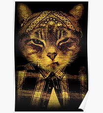 Gangster Cat Poster