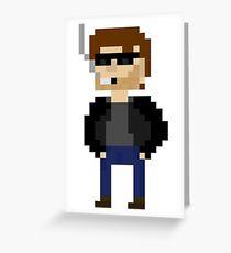 Pixel Hank Moody Greeting Card