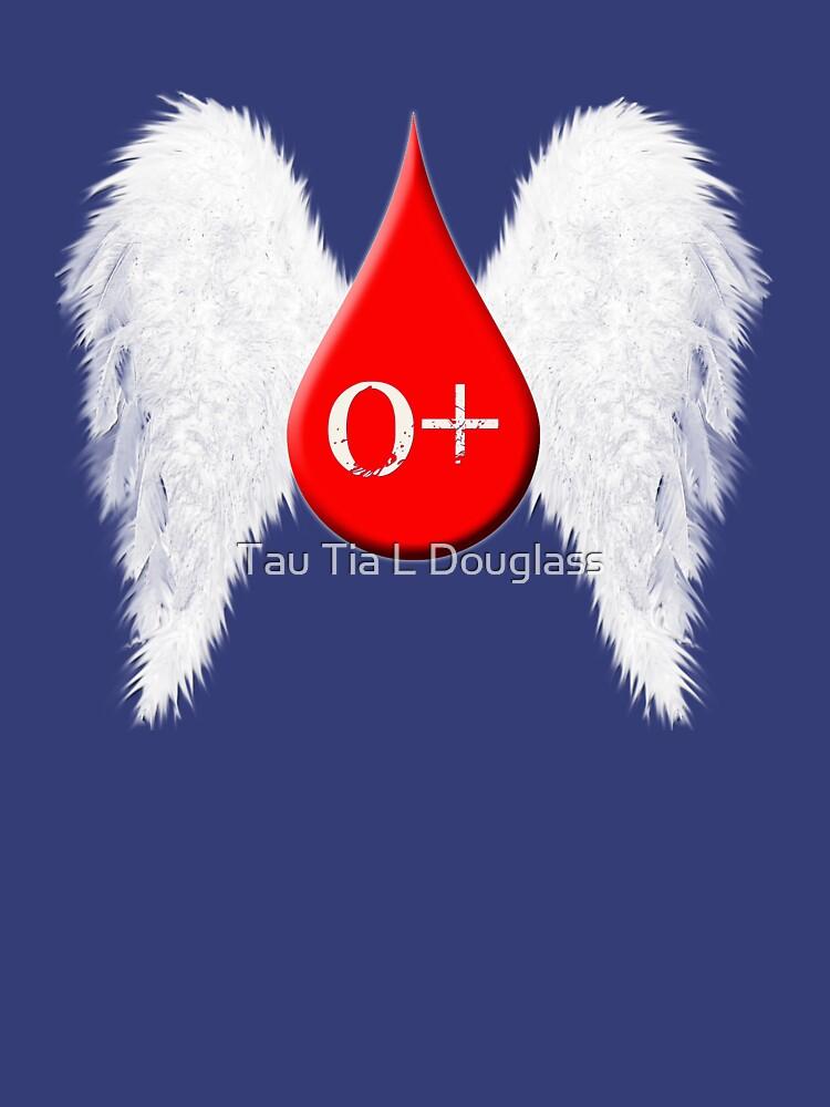 Blood Type O Positive - Angel Wings by PurplePeacock