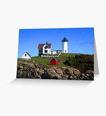 "Cape Neddick ""Nubble"" Lighthouse Greeting Card"
