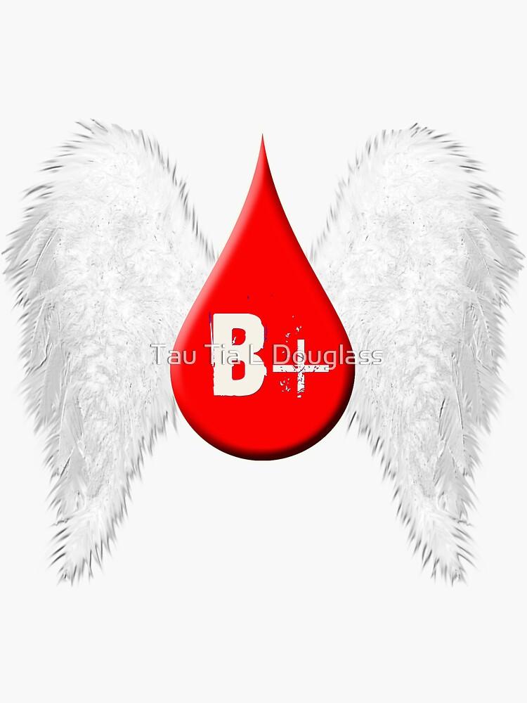 Blood Type B Positive - Angel Wings by PurplePeacock