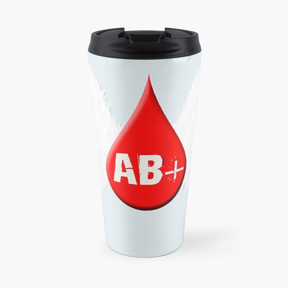 Blood Type AB Positive - Angel Wings Travel Mug