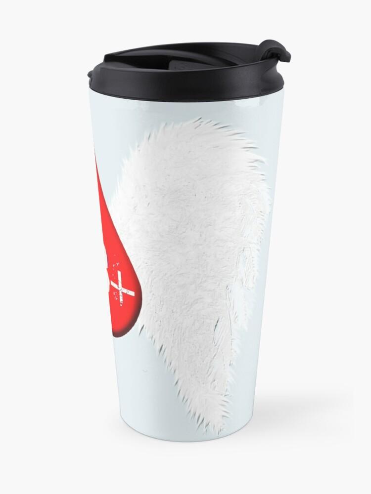 Alternate view of Blood Type AB Positive - Angel Wings Travel Mug