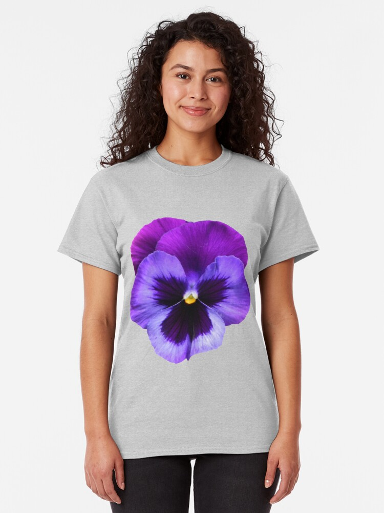 Alternate view of Beautiful Violet Flower Classic T-Shirt