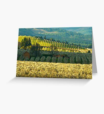 Hood River Valley Oregon Greeting Card
