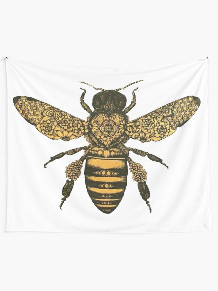Alternate view of Queen Honey Bee Tapestry