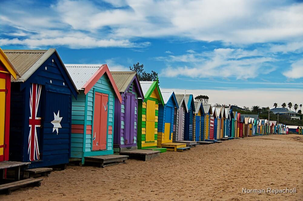 BRIGHTon Beach Boxes - Melbourne by Norman Repacholi