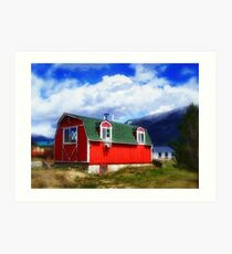 Mini Barn Art Print