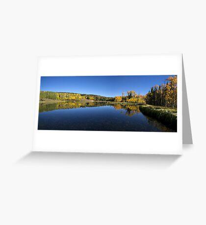 Posey Lake Panorama Greeting Card