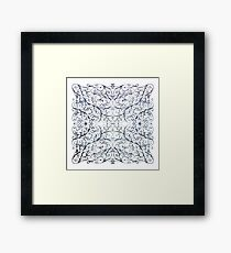 Drawing Day Inky Spirals V1 Framed Print