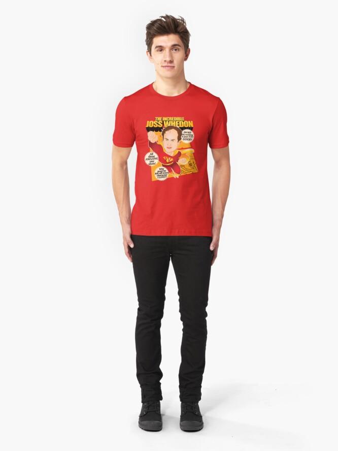 Vista alternativa de Camiseta ajustada Joss Whedon