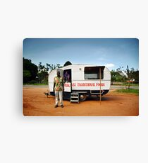 Traditional African Food Stall Canvas Print