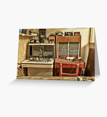 The Telephone Exchange Greeting Card