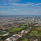 Melbourne from the sky by styles