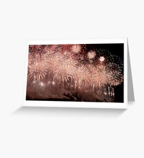 Carcassonne on Bastille day Greeting Card
