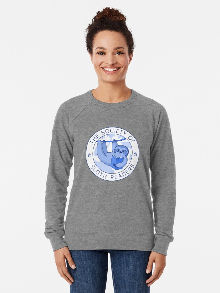Alternate view of Society of Sloth Readers Lightweight Sweatshirt