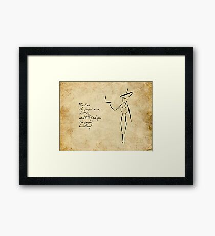The Lady in the Big Hat #2 Framed Print