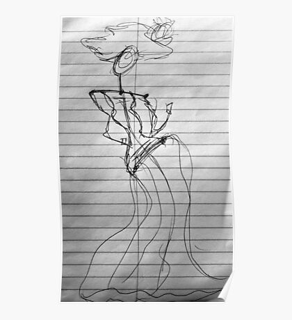 Random Sketch 04...Drawing Day Poster