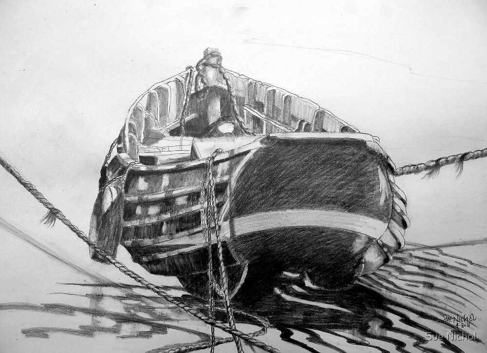 Coble at South Gare by Sue Nichol