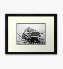 Coble at South Gare Framed Print
