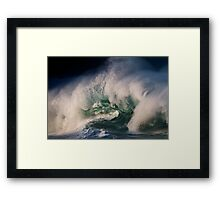 Winter Waves At Waimea Bay 9 Framed Print
