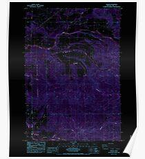 USGS Topo Map Oregon Jordan 280345 1985 24000 Inverted Poster