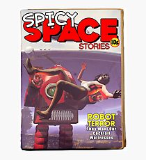 Spicy Space Stories Fake Pulp Cover Photographic Print