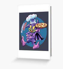 Batmite Pizza Greeting Card