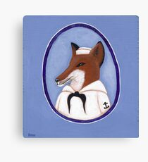 Foxy Sailor Canvas Print