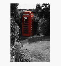 British phone box Photographic Print