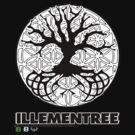 Illementree Logo Merch 2 - solid white flower by David Avatara
