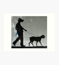 Dog Walks Man/ Art Around the Park, Tompkins Square, New York Art Print