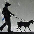 Dog Walks Man/ Art Around the Park, Tompkins Square, New York by John Sunderland