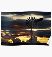 Riverland Sunset Poster