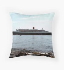 Queen Mary 2 arriving at Halifax Throw Pillow