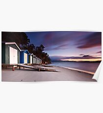 Coningham Beach Boat Sheds #2 Poster