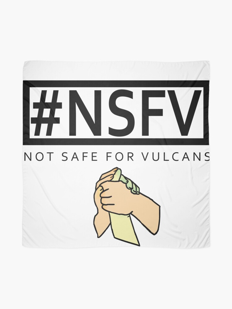 Alternate view of #NSFV - Not Safe For Vulcans - this simple feeling Scarf