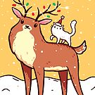 Reindeer and Kitten by LydiaLyd