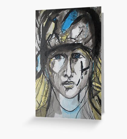 Lady Soldier Greeting Card