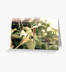 Celebrating the Miracle of Her Life - Birthday or Special Date Greeting Card