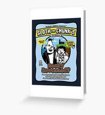 Sloth and Chunk's Ice Cream Greeting Card