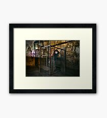The Gimp Does a Runner Framed Print